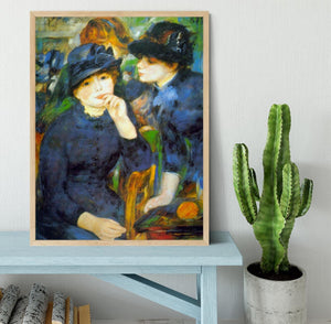 Two Girls by Renoir Framed Print - Canvas Art Rocks - 4