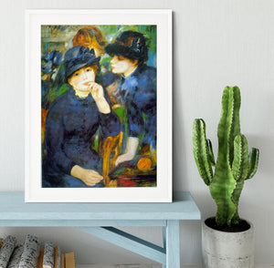 Two Girls by Renoir Framed Print - Canvas Art Rocks - 5