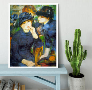 Two Girls by Renoir Framed Print - Canvas Art Rocks -6