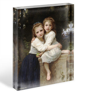 Two Sisters By Bouguereau Acrylic Block - Canvas Art Rocks - 1