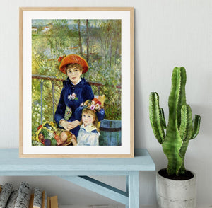Two Sisters On The Terrace by Renoir Framed Print - Canvas Art Rocks - 3