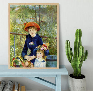 Two Sisters On The Terrace by Renoir Framed Print - Canvas Art Rocks - 4