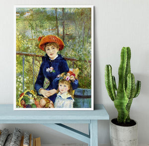 Two Sisters On The Terrace by Renoir Framed Print - Canvas Art Rocks -6