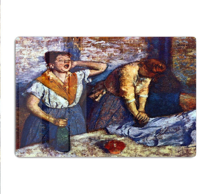 Two cleaning women by Degas HD Metal Print