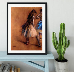Two dancers 1 by Degas Framed Print - Canvas Art Rocks - 1