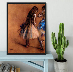 Two dancers 1 by Degas Framed Print - Canvas Art Rocks - 2