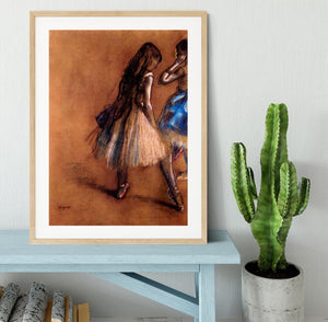 Two dancers 1 by Degas Framed Print - Canvas Art Rocks - 3