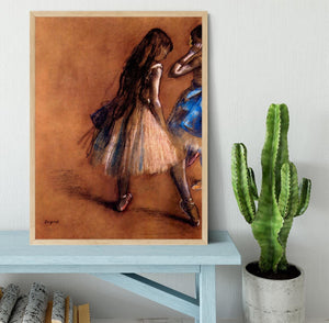 Two dancers 1 by Degas Framed Print - Canvas Art Rocks - 4