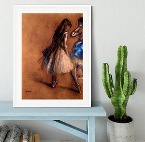 Two dancers 1 by Degas Framed Print - Canvas Art Rocks - 5