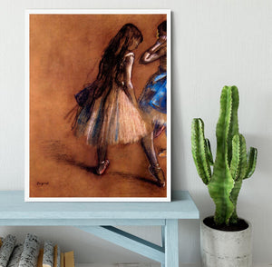 Two dancers 1 by Degas Framed Print - Canvas Art Rocks -6