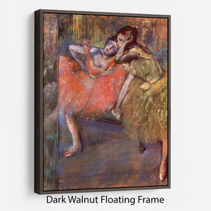 Two dancers behind the scenes by Degas Floating Frame Canvas - Canvas Art Rocks - 5