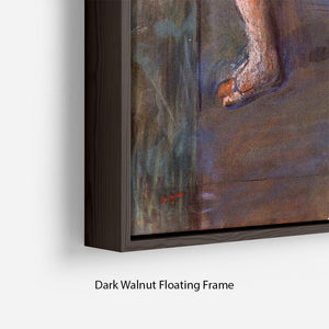 Two dancers behind the scenes by Degas Floating Frame Canvas - Canvas Art Rocks - 6