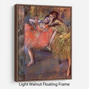 Two dancers behind the scenes by Degas Floating Frame Canvas - Canvas Art Rocks 7