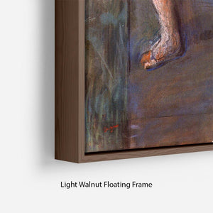 Two dancers behind the scenes by Degas Floating Frame Canvas - Canvas Art Rocks - 8