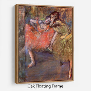 Two dancers behind the scenes by Degas Floating Frame Canvas - Canvas Art Rocks - 9