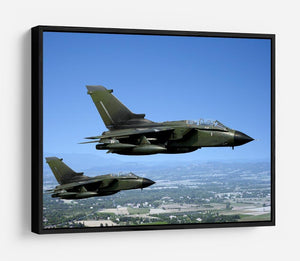 Two green fighter jets HD Metal Print