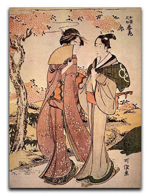 Two women by Hokusai Canvas Print or Poster  - Canvas Art Rocks - 1