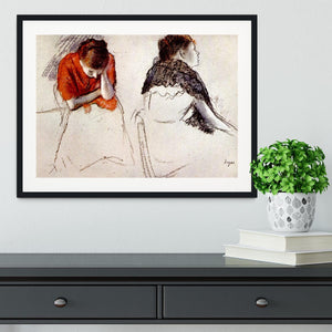 Two women seated by Degas Framed Print - Canvas Art Rocks - 1