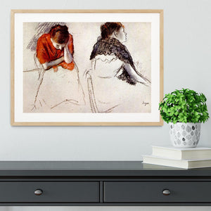 Two women seated by Degas Framed Print - Canvas Art Rocks - 3
