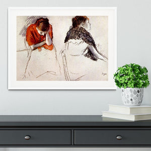 Two women seated by Degas Framed Print - Canvas Art Rocks - 5