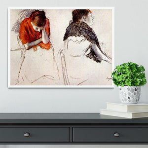 Two women seated by Degas Framed Print - Canvas Art Rocks -6
