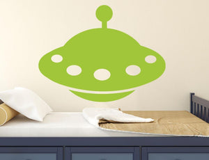 Alien UFO - Version 1 Wall Sticker - Canvas Art Rocks