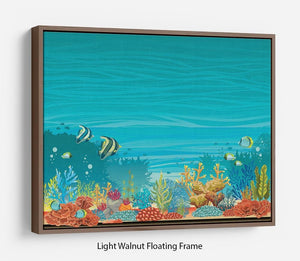 Underwater seascape Floating Frame Canvas