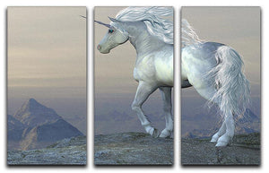 Unicorn Bluff 3 Split Panel Canvas Print - Canvas Art Rocks - 1