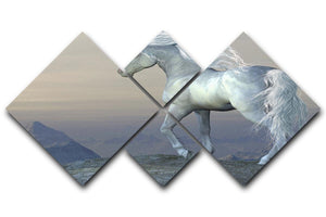 Unicorn Bluff 4 Square Multi Panel Canvas  - Canvas Art Rocks - 1