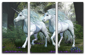 Unicorn Elm Forest 3 Split Panel Canvas Print - Canvas Art Rocks - 1