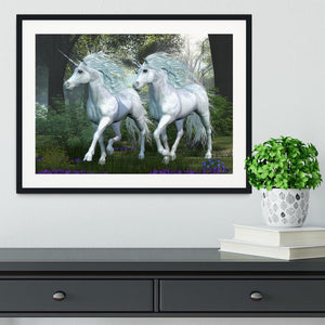 Unicorn Elm Forest Framed Print - Canvas Art Rocks - 1