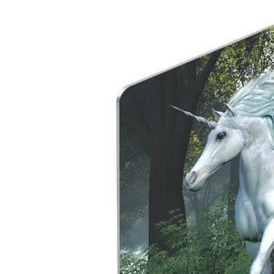 Unicorn Elm Forest HD Metal Print