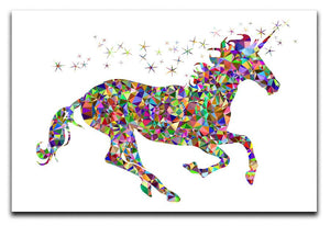 Unicorn Mosaic Canvas Print or Poster