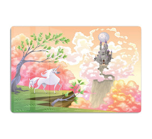 Unicorn and mythological landscape HD Metal Print