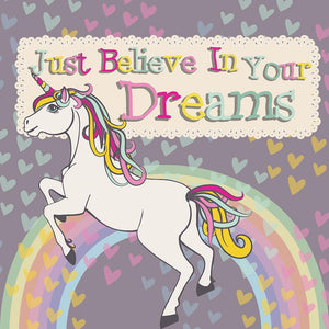 Unicorn believe in your dreams Wall Mural Wallpaper - Canvas Art Rocks - 1