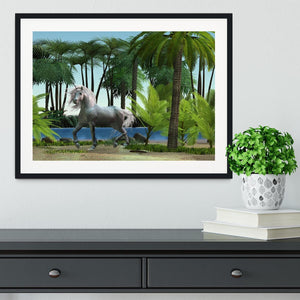 Unicorn buck prances Framed Print - Canvas Art Rocks - 1