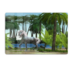Unicorn buck prances HD Metal Print