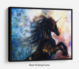 Unicorn dancing Floating Frame Canvas