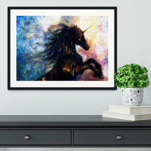 Unicorn dancing Framed Print - Canvas Art Rocks - 1