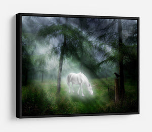 Unicorn in a magical forest HD Metal Print