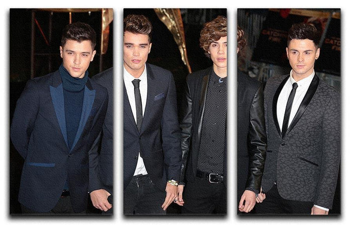 Union J Band 3 Split Panel Canvas Print