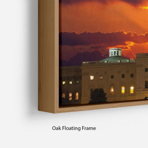 United States Capitol Building Floating Frame Canvas