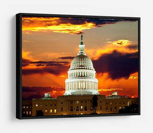 United States Capitol Building HD Metal Print