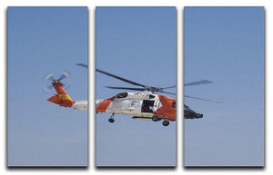 United States Coast Guard helicopter 3 Split Panel Canvas Print - Canvas Art Rocks - 1