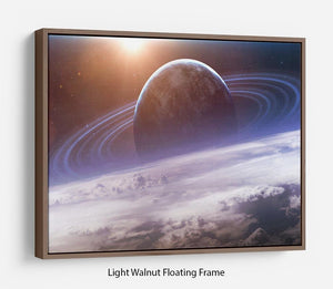 Universe scene with planets Floating Frame Canvas