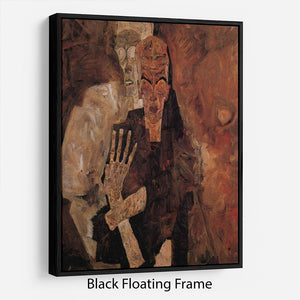 Unlicensed or even death and man by Egon Schiele Floating Frame Canvas - Canvas Art Rocks - 1
