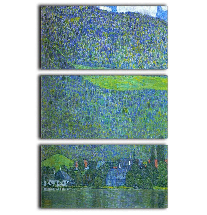 Unterach at the Attersee by Klimt 3 Split Panel Canvas Print