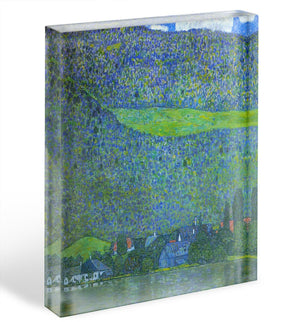 Unterach at the Attersee by Klimt Acrylic Block - Canvas Art Rocks - 1