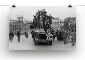 VE celebrations in London Canvas Print or Poster - Canvas Art Rocks - 2