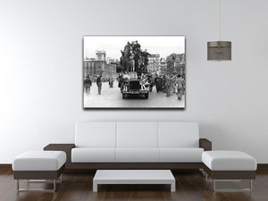VE celebrations in London Canvas Print or Poster - Canvas Art Rocks - 4